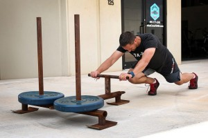 summer sled push